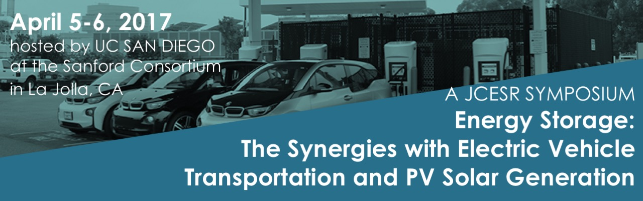 JCSER Symposium: Energy Storage: The Synergies with Electric Vehicle  Transportation and PV Solar Generation