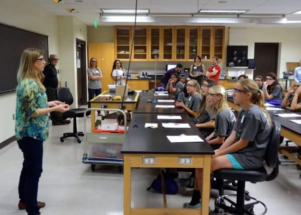 Rick Moyer leads outreach team in encouraging middle school girls to pursue STEM careers