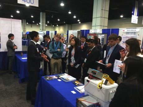 Antonio Tong speaks to students at ARPAe Summit